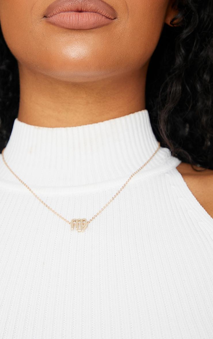 Gold Virgo Star Sign Necklace 2