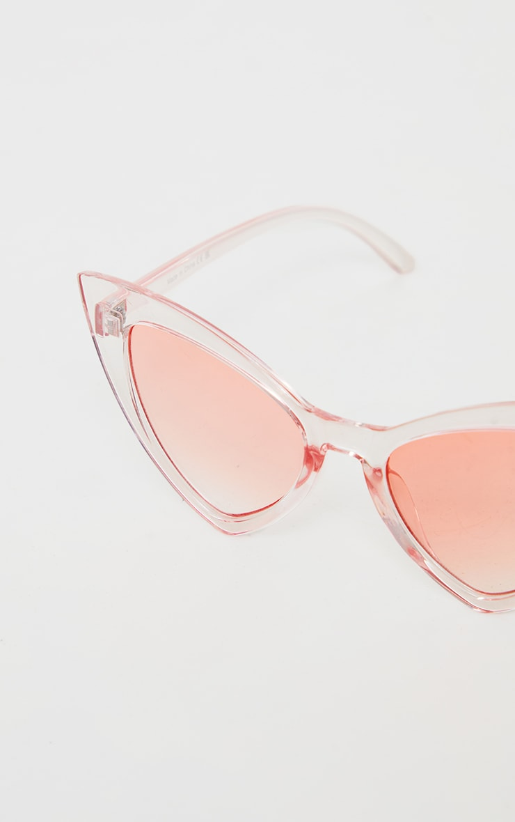 Pink Ombre Extreme Cat Eye Sunglasses 4
