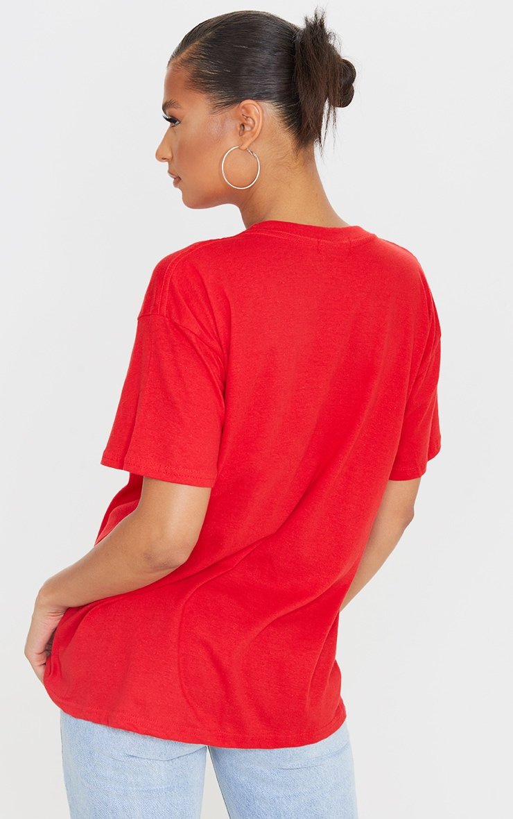 Ultimate Red Oversized T Shirt 2