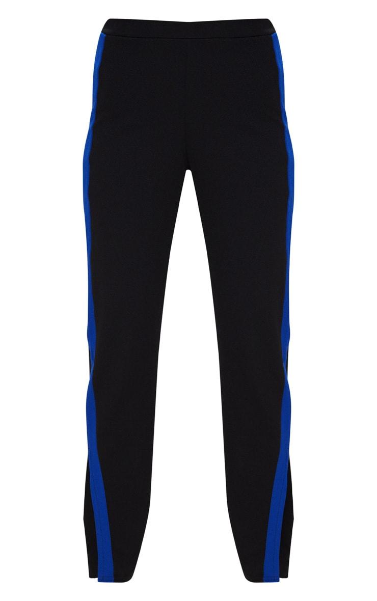 Black Contrast Side Tape Straight Leg Trouser 3