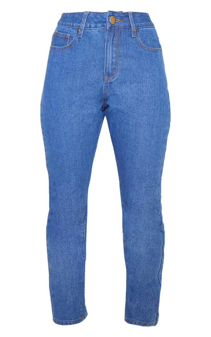 Mid Wash Basic Straight Leg Jean 3