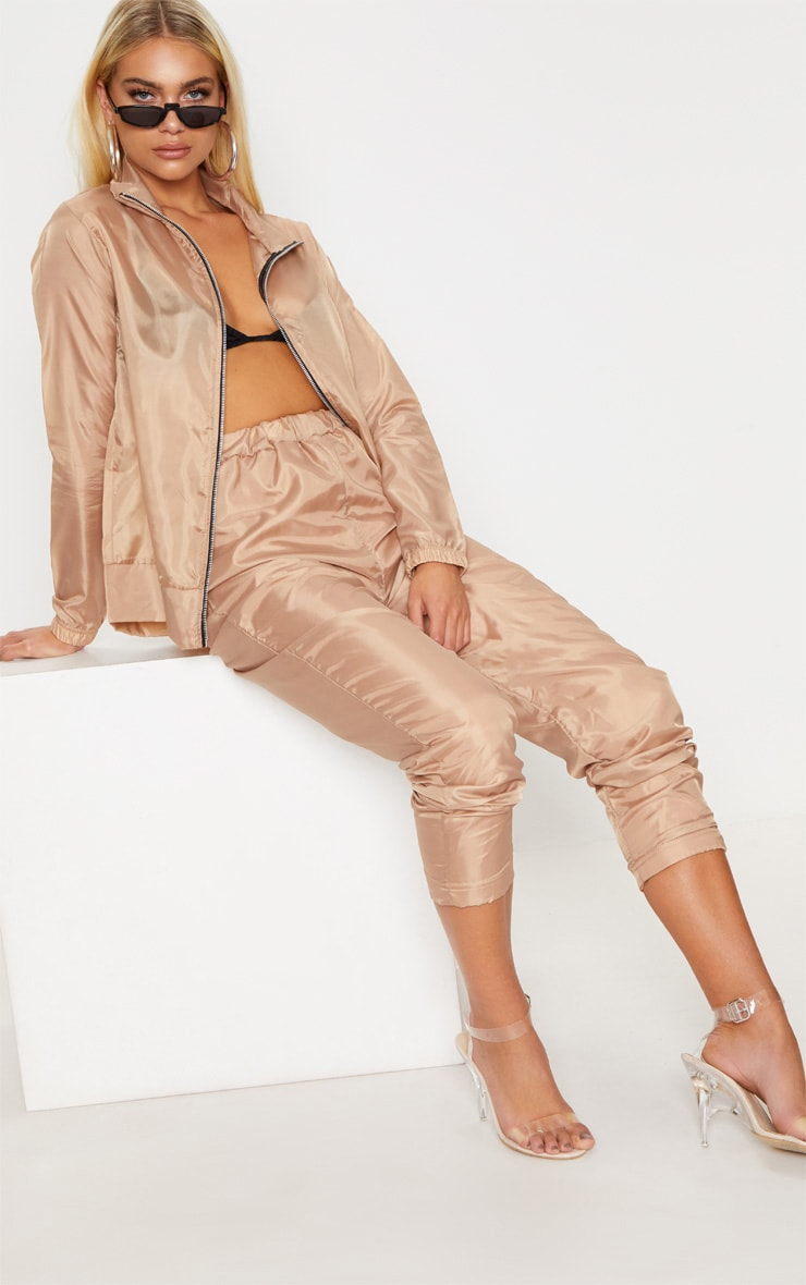 Dusty Pink Shell Zip Up Jacket 4