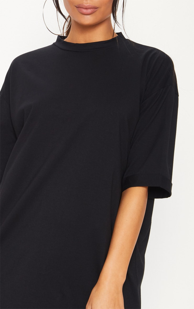 Black Oversized Boyfriend T Shirt Dress 5