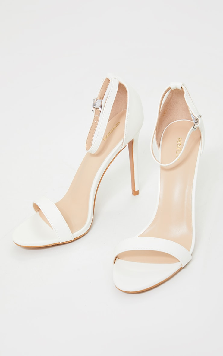 Clover White Strap Heeled Sandals 3