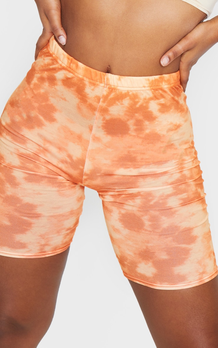 Basic Orange Tie Dye Cycle Shorts 5