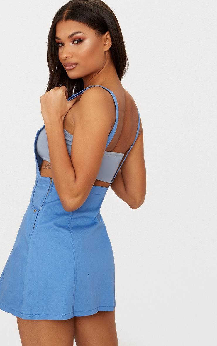 Baby Blue Denim Pinafore Dress 2