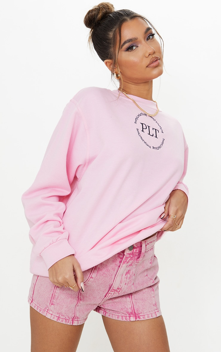 Pink Acid Seam Detail Denim Shorts 4
