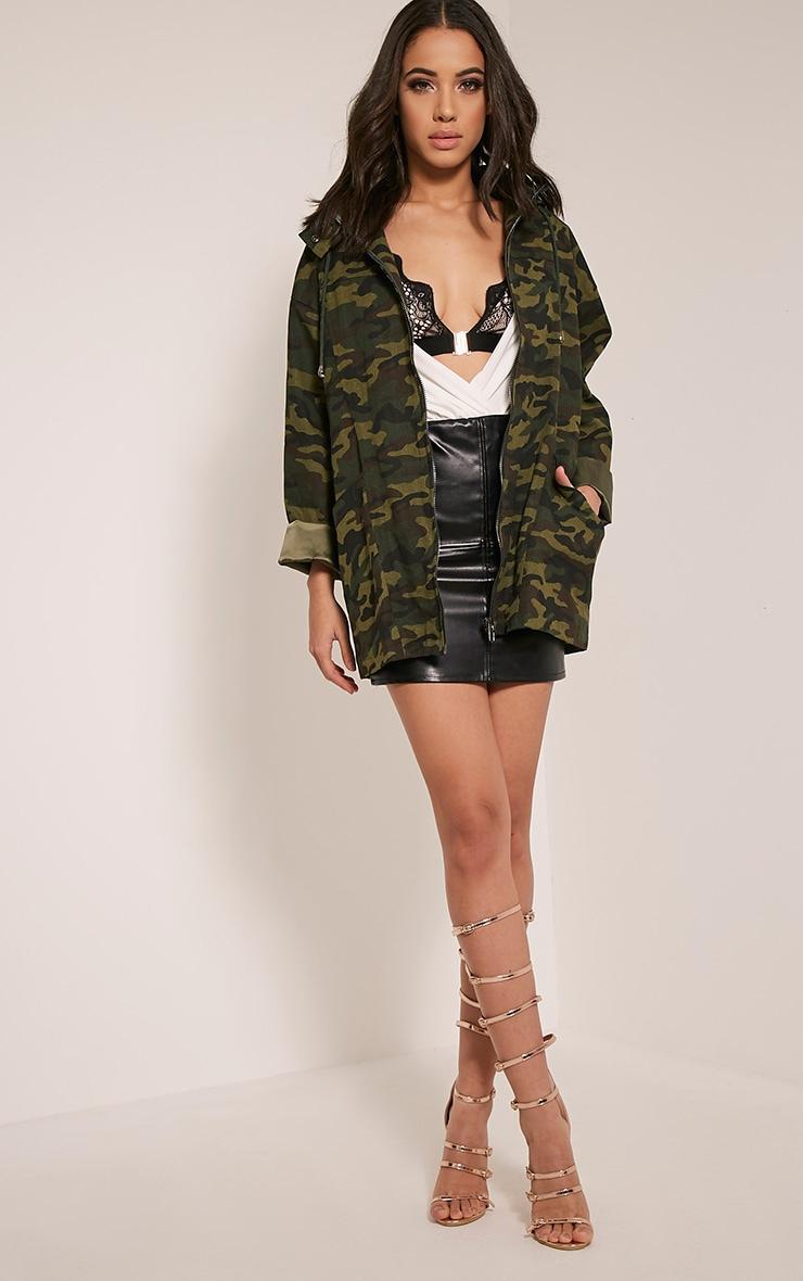 Jaynor Green Camouflage Parka Jacket 5