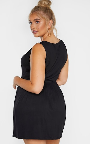 Plus Black Jersey Smock Dress
