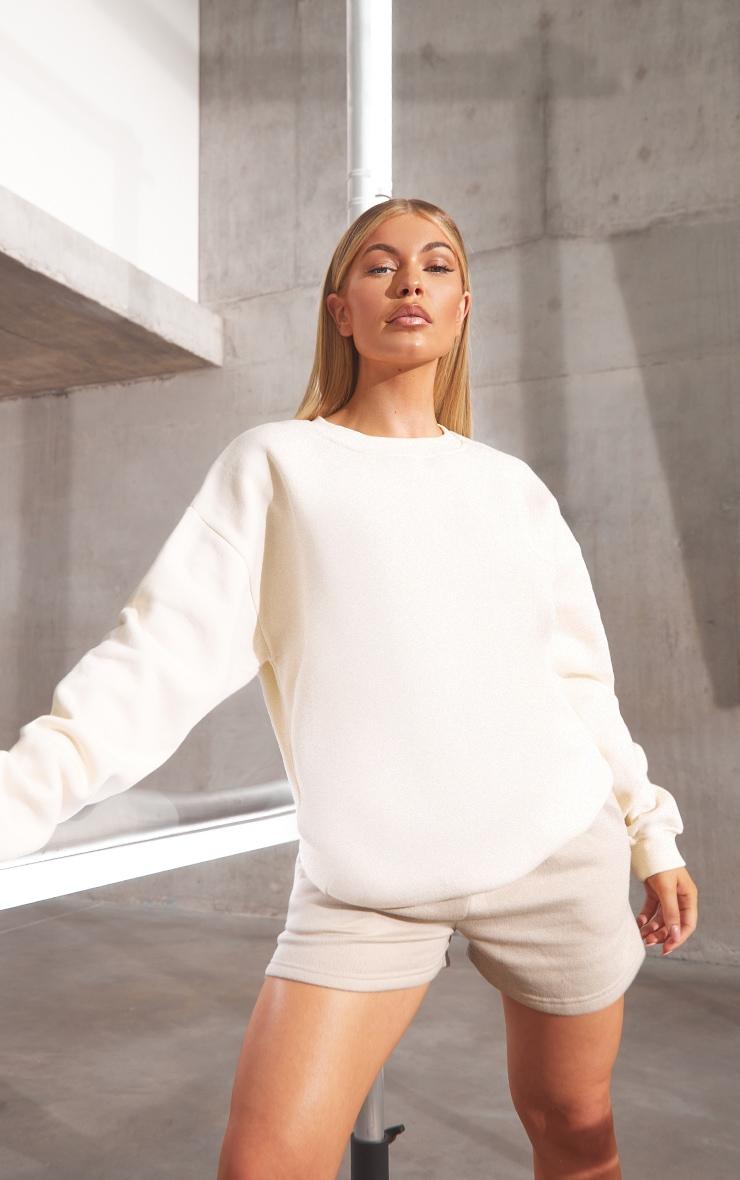RENEW Cream Oversized Sweater 1
