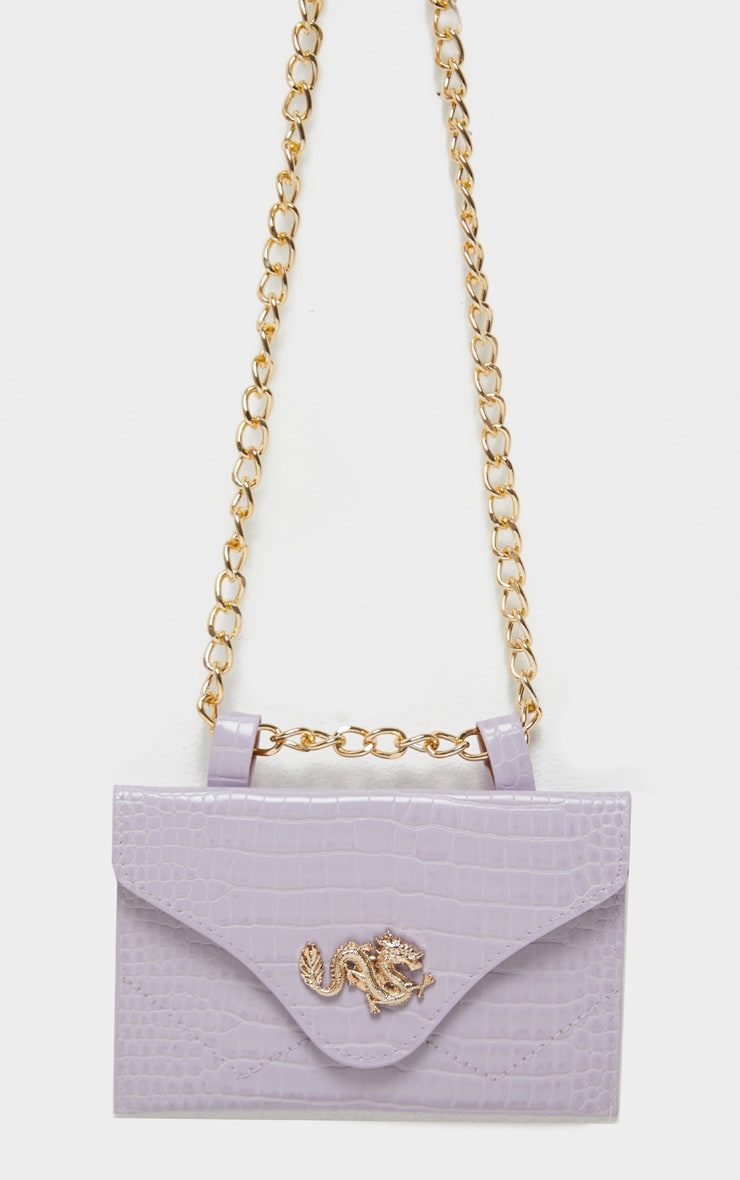 Dusty Lilac Dragon Chain Belted Bum Bag 2