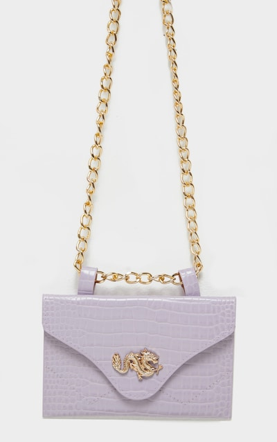 Dusty Lilac Dragon Chain Belted Bum Bag