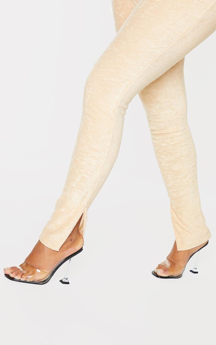 Shape - Legging en éponge gris pierre à ourlets fendus 4