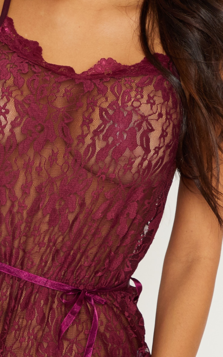 Plum Lace Teddy 5