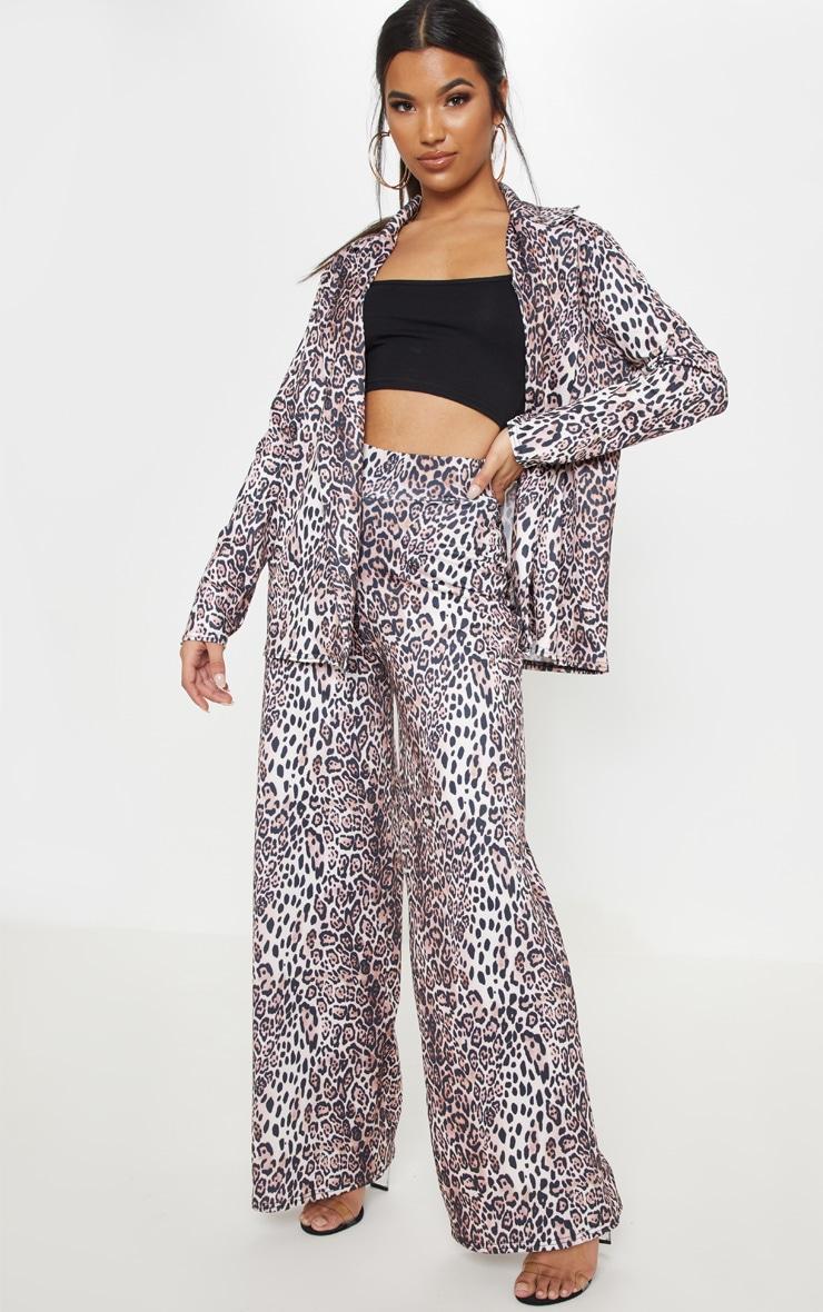 Tan Leopard Boyfriend Blazer  4