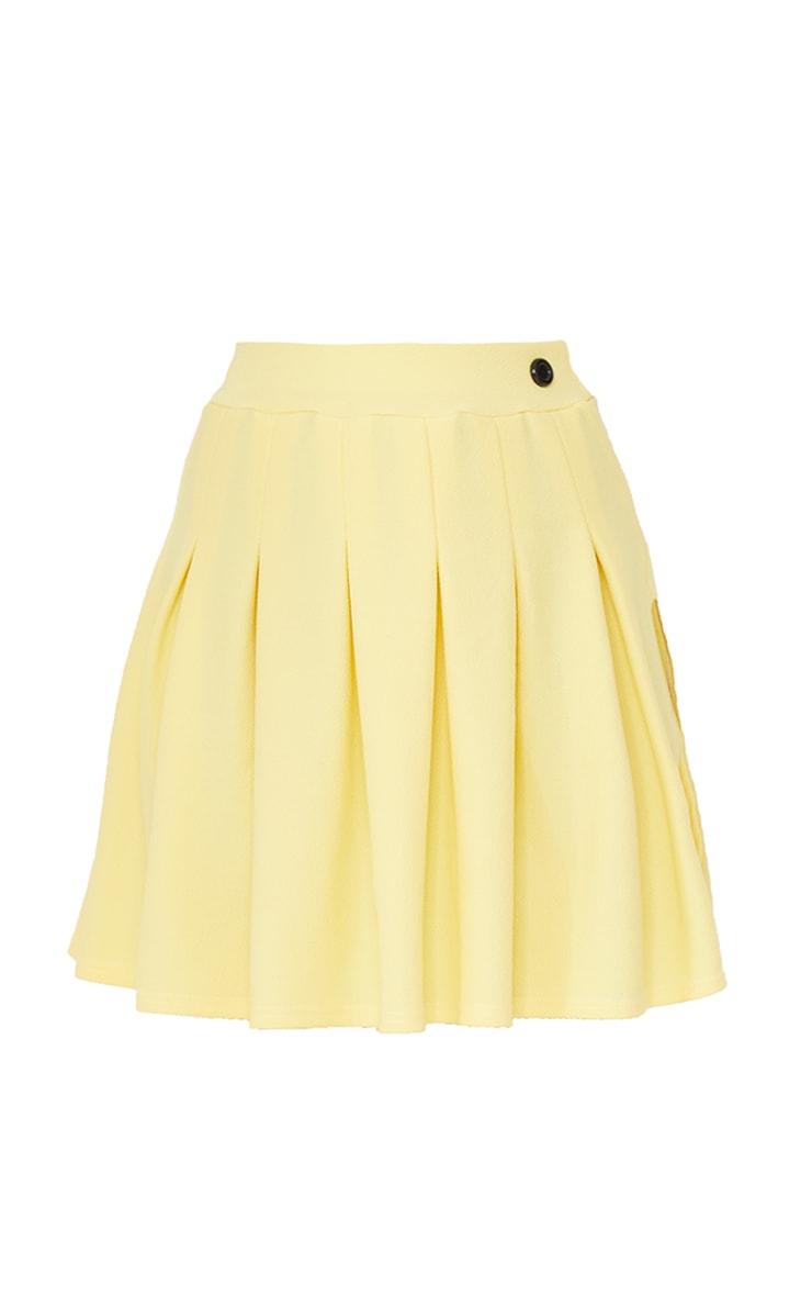 Lemon Yellow Pleated Side Split Tennis Skirt 6
