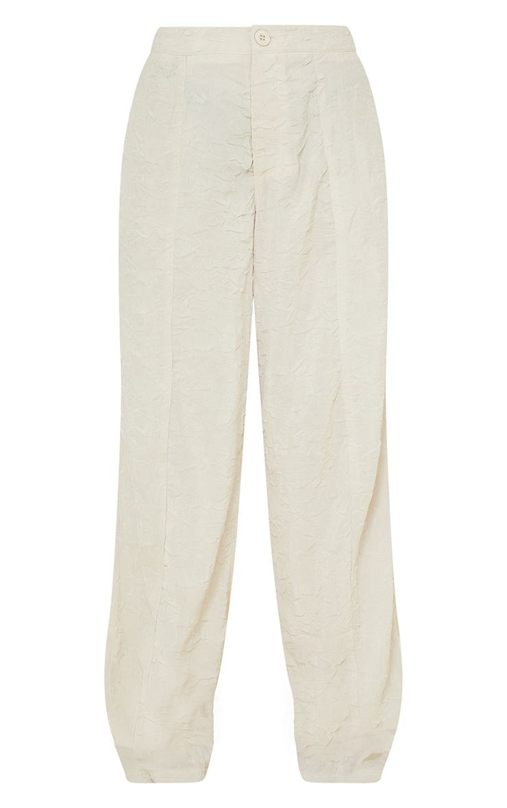 Petite Stone Lightweight Crinkle Wide Leg Trousers 5
