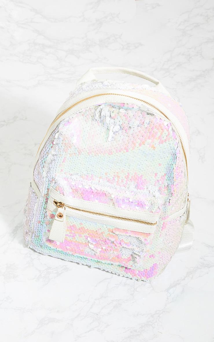 Iridescent Sequin Backpack 1