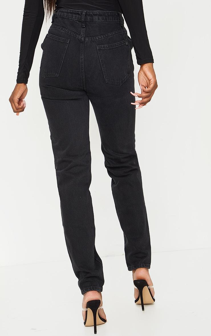 Tall - Jean noir profond à taille asymétrique 3