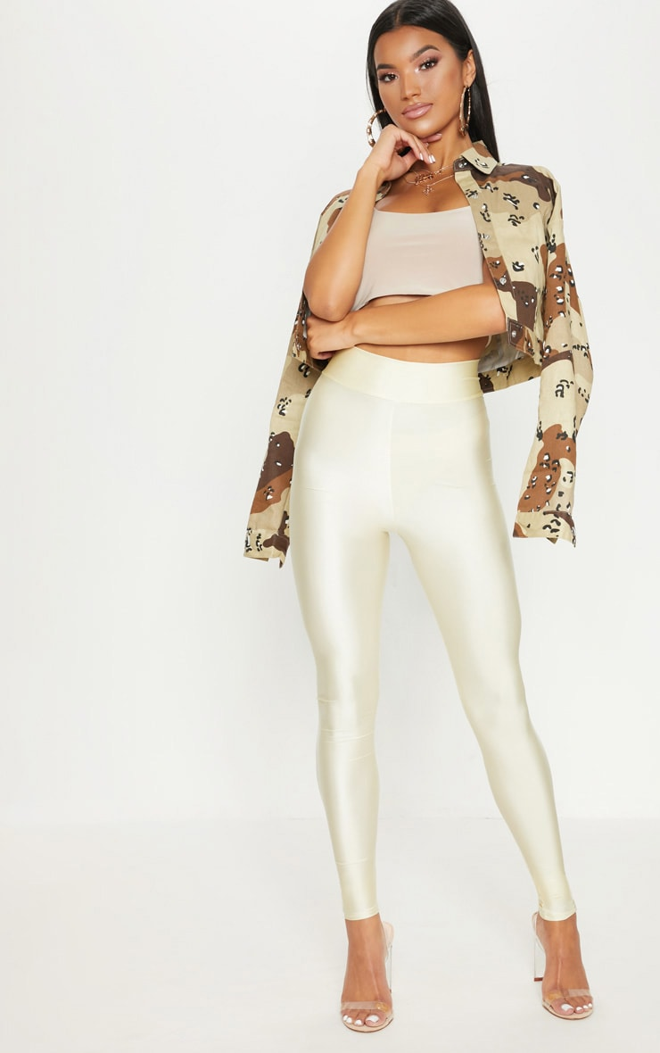 Champagne Disco Highwaisted Leggings