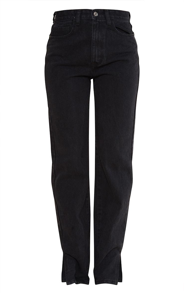 Black Split Hem Jeans 5