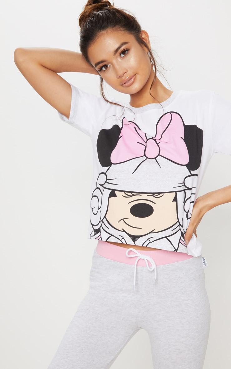 Grey DISNEY Minnie Mouse Bow Detail Legging Pyjama Set 4