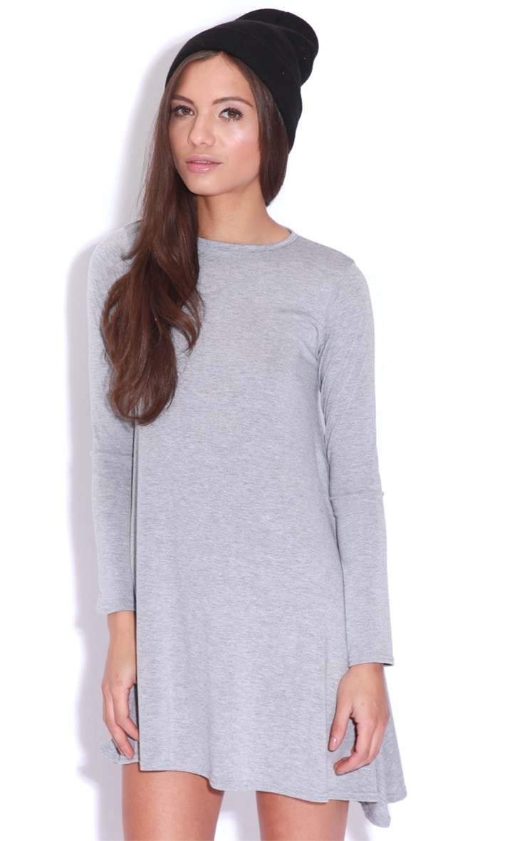 Ellie Grey Long Sleeved Swing Dress 1
