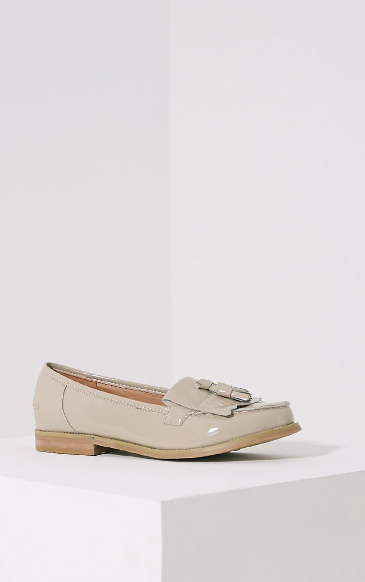 Trella Nude Patent Loafers 3