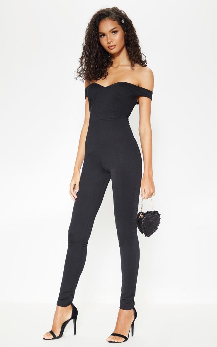 a491327616 Black Bardot Jumpsuit image 1