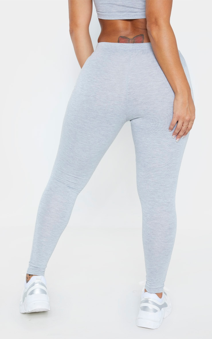Shape Grey Marl Jersey Leggings 4
