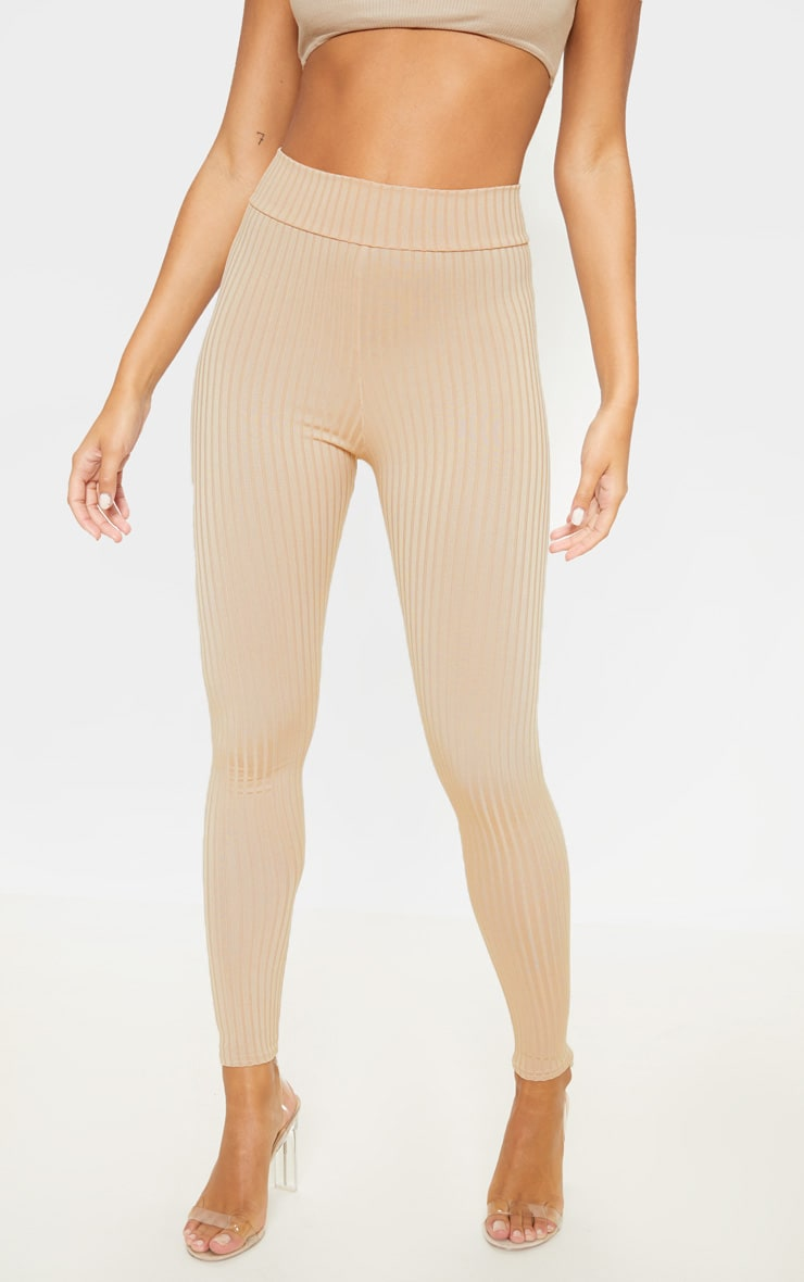 Harlie Stone Ribbed High Waisted Leggings 2