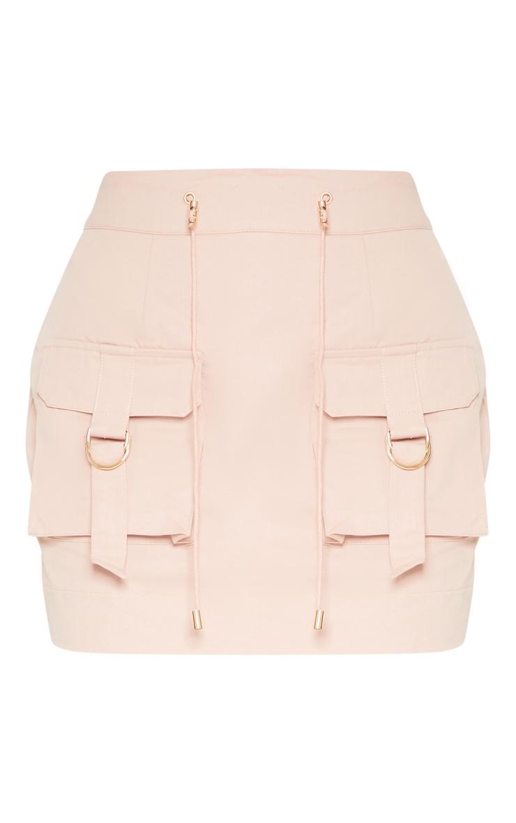 Dusty Pink Cargo Pocket Detail Mini Skirt 3