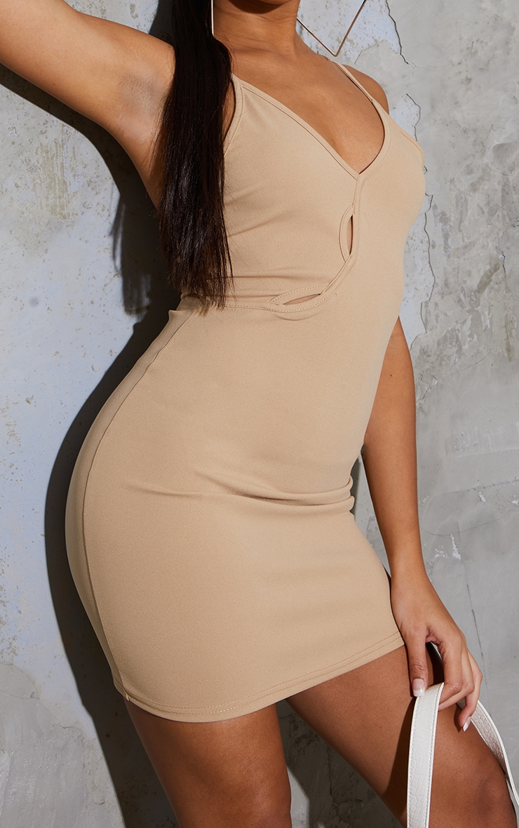 Stone Strappy Cut Out Detail Bodycon Dress 4