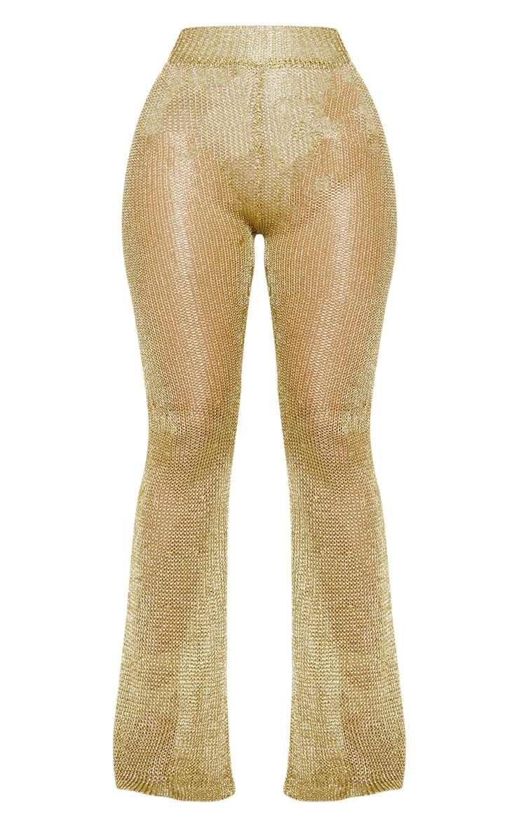 Gold Knit Beach Flares 3
