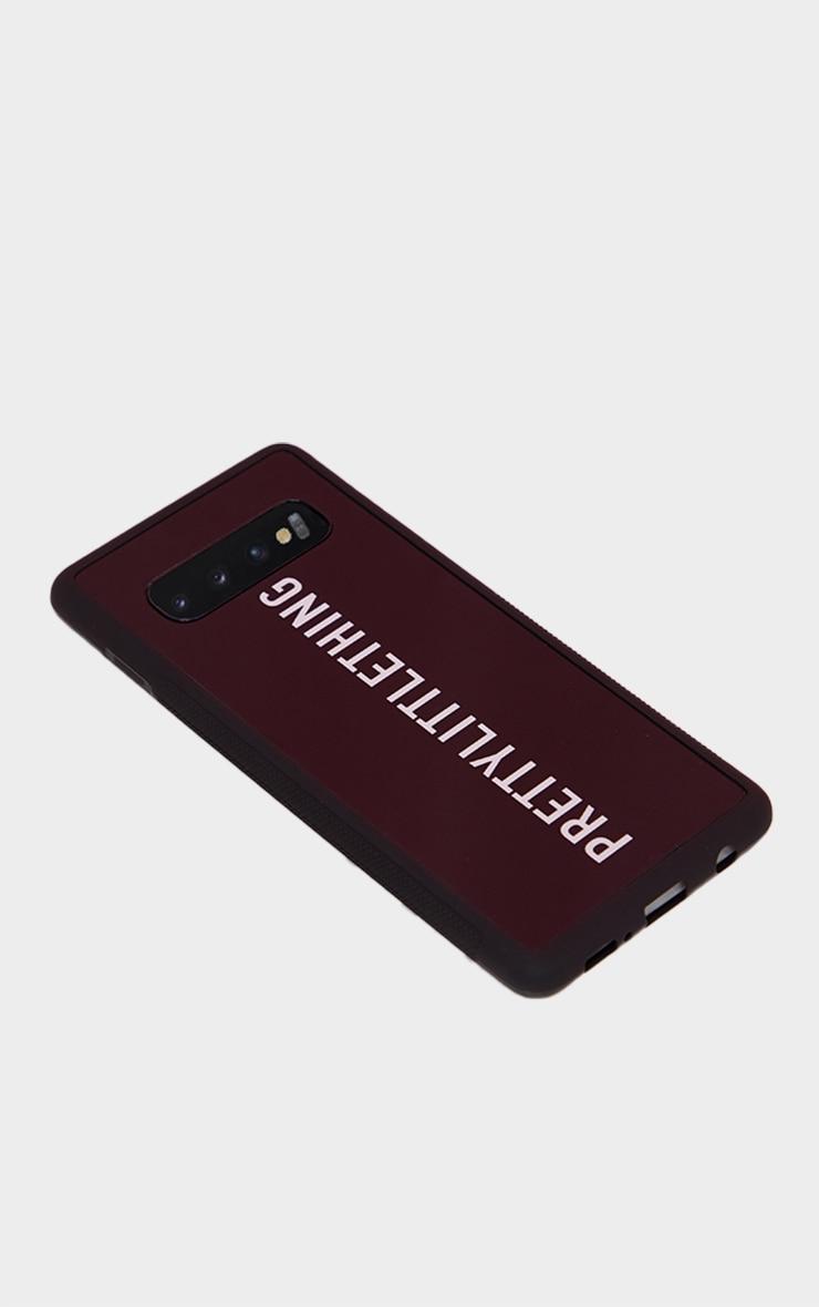 PRETTYLITTLETHING Black Logo Samsung S10 Phone Case 4