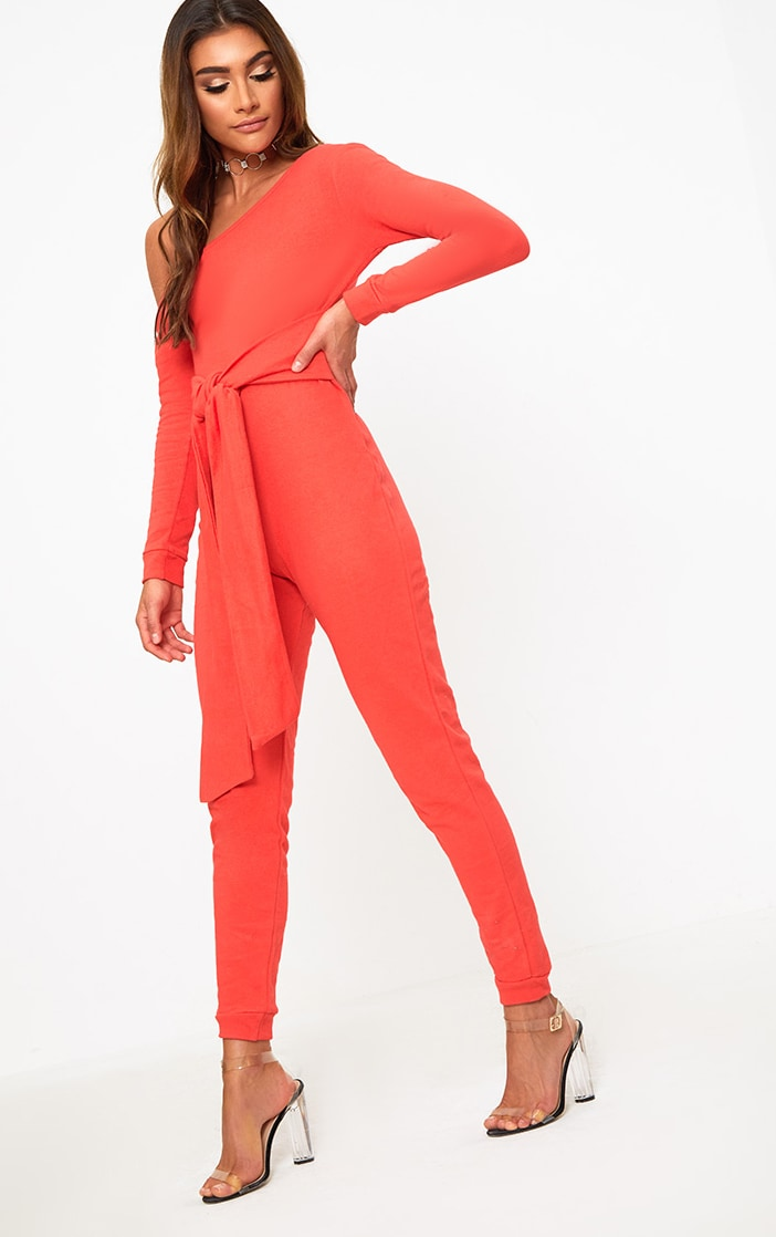 Red Sweat Jumpsuit 4