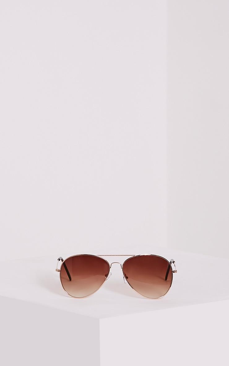 Quin Gold Tinted Aviator Sunglasses 3
