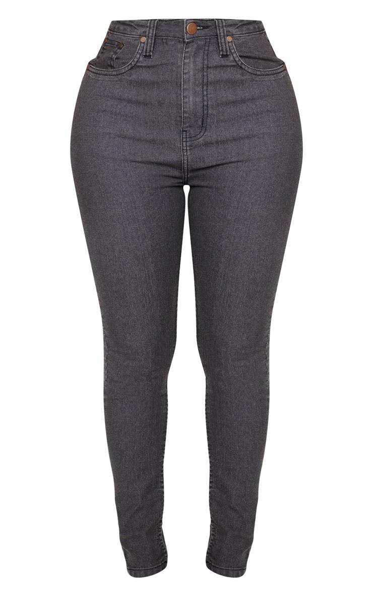 Shape Charcoal High Waisted Skinny Jean 3
