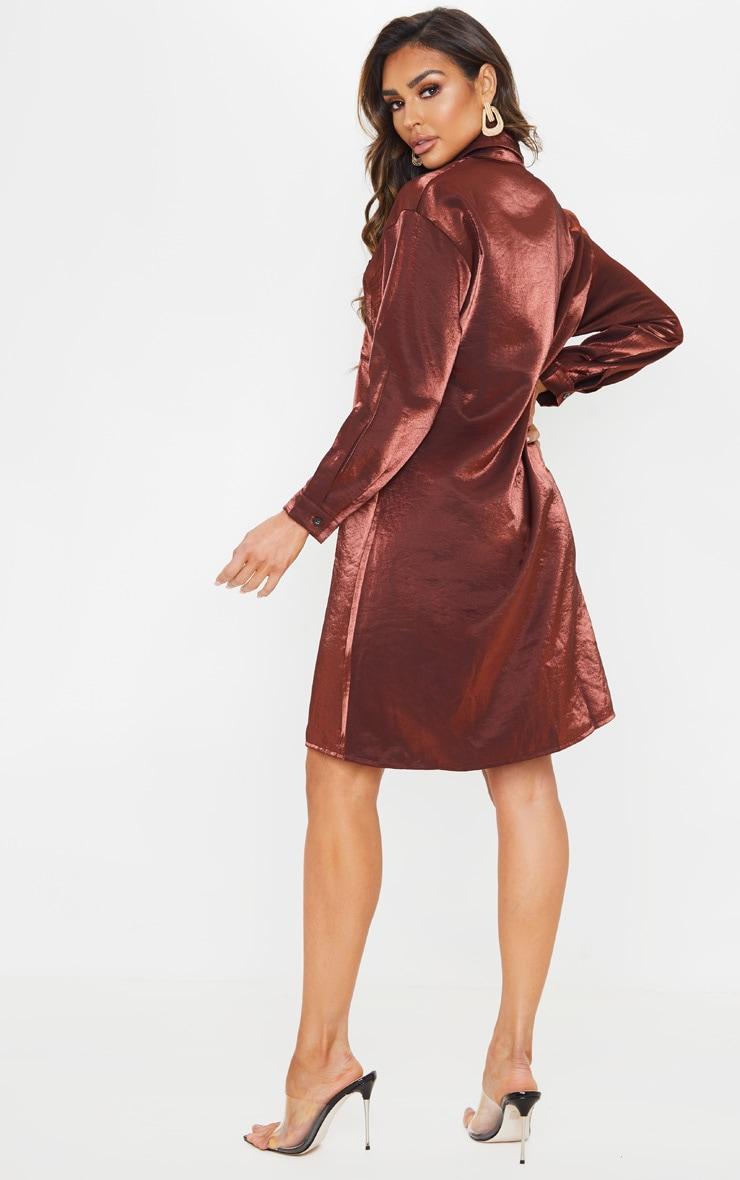 Bronze Metallic Shirt Dress 2