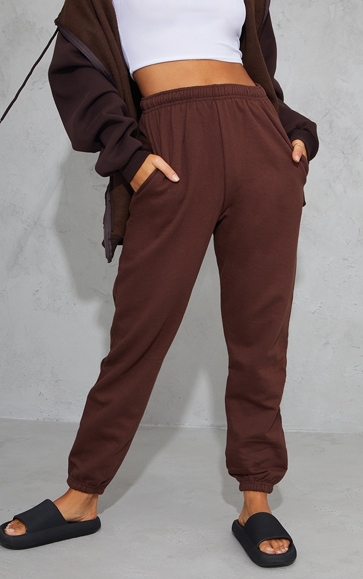 Pantalon de jogging marron chocolat casual 2