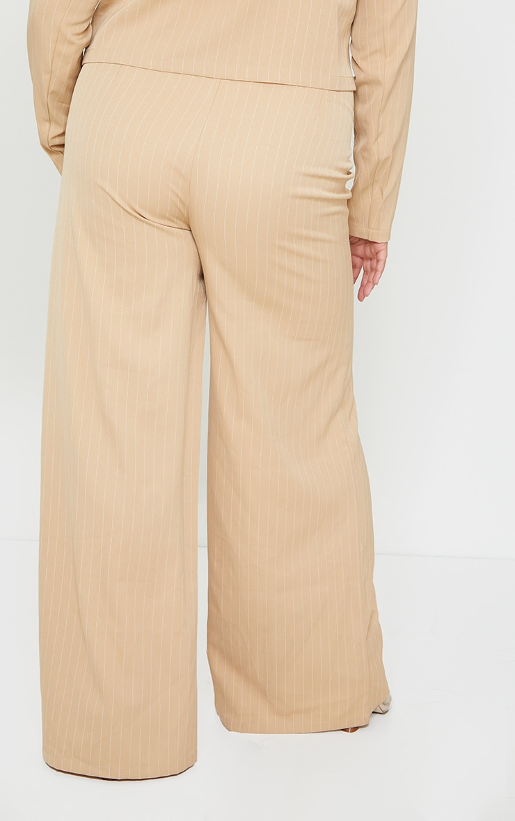 Plus Stone Striped Suit Pants 3