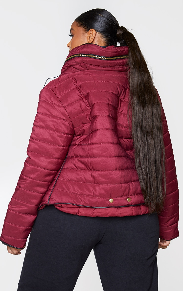 Plus Mara Burgundy Puffer Jacket 2