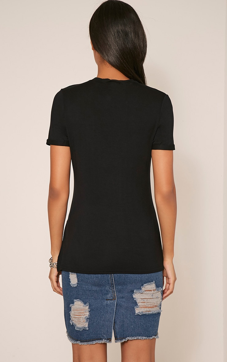 Wild & Free Slogan Black T-Shirt 2
