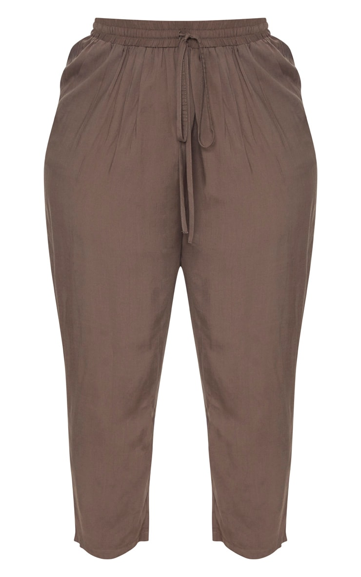 Plus Khaki Casual Pants 3