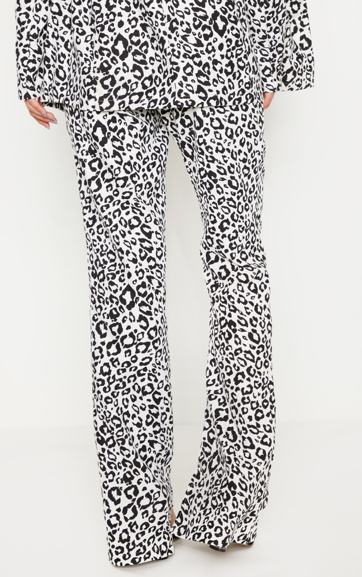 Dalmatian Print High Waisted Wide Leg Pants 3