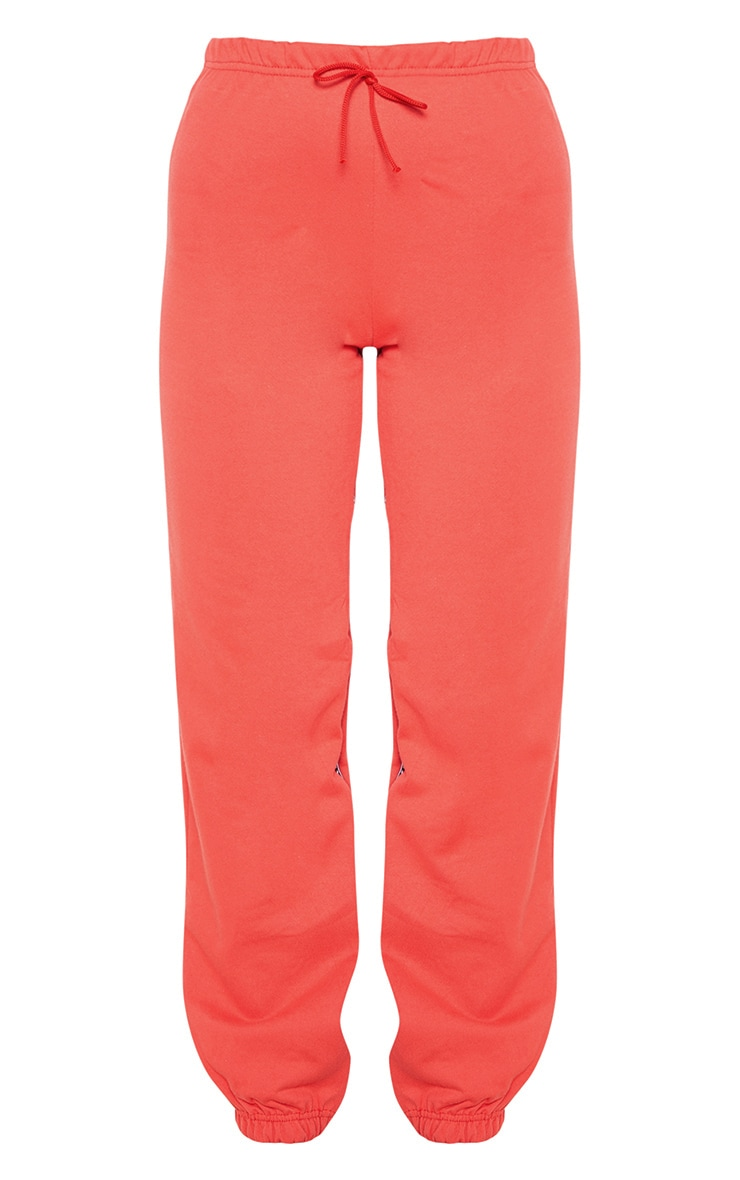 PRETTYLITTLETHING Red Track Pants 3