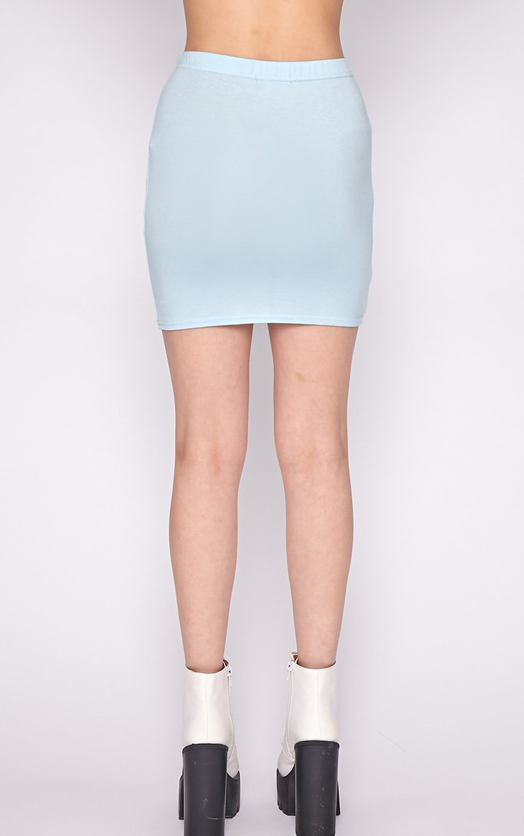 Basic Blue Jersey Mini Skirt 2