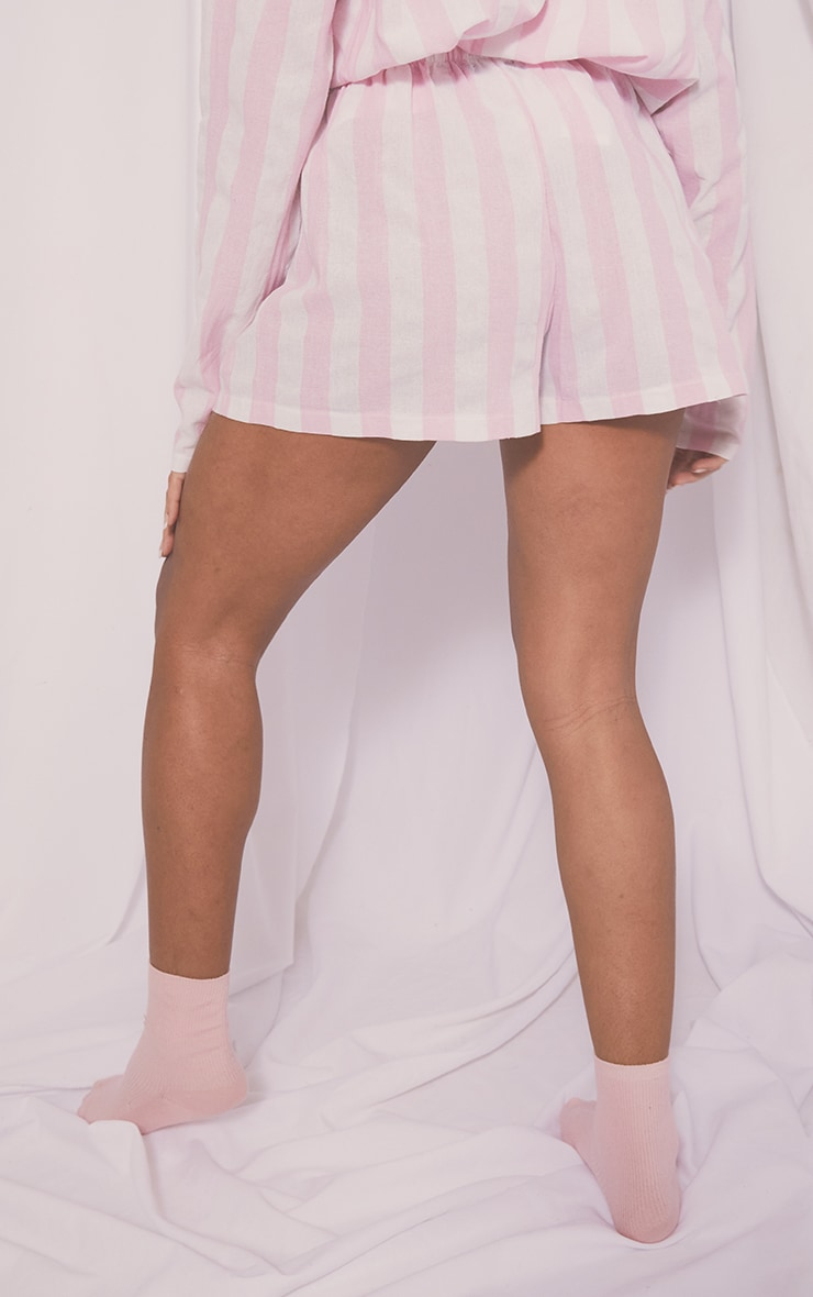 Pink Mix And Match Wide Stripe Cotton PJ Shorts 3