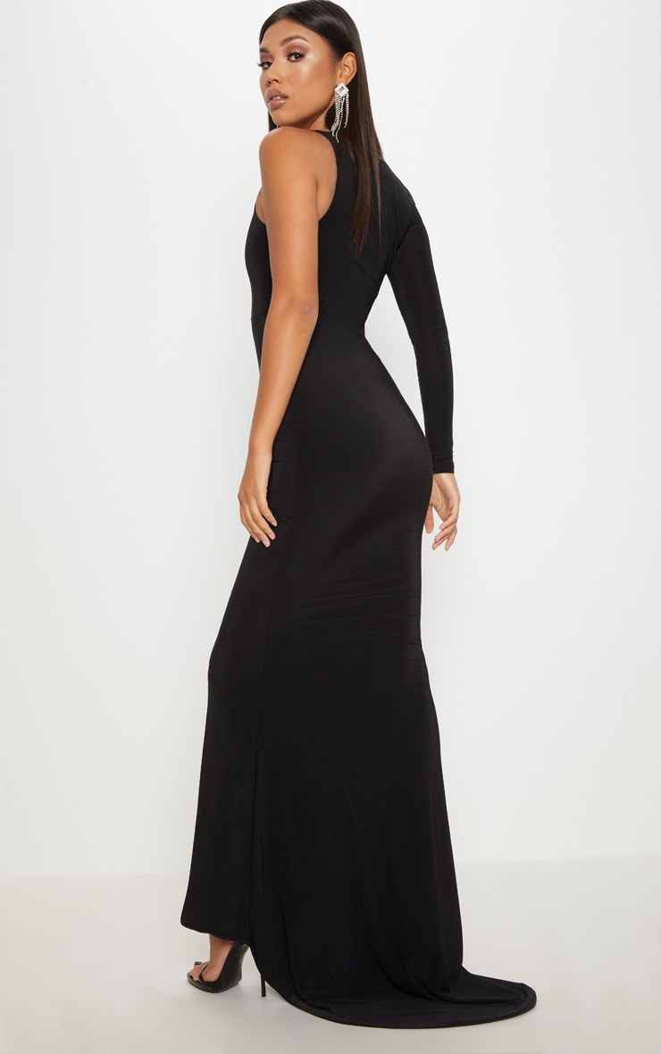 Black Wrap Sleeve Maxi Dress 2