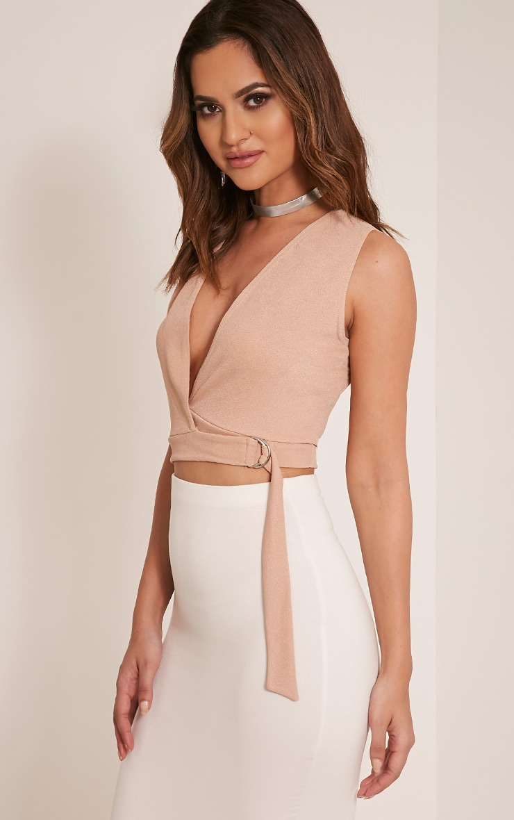 Aoife Stone D Ring Wrap Crop Top 4